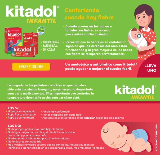 Kitadol confortando fiebre